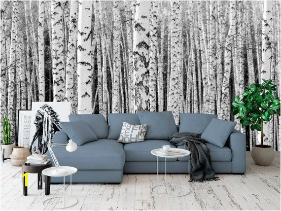 High quality repositionable removable self adhesive wallpaper white tree wall mural