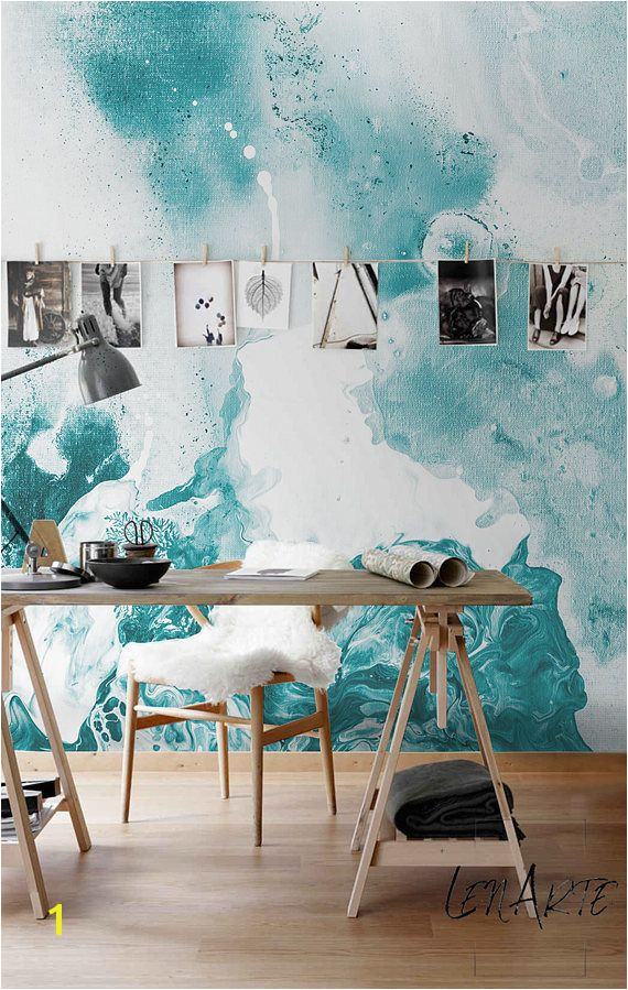 Marble Stain Wall Murals Wall covering Peel and stick