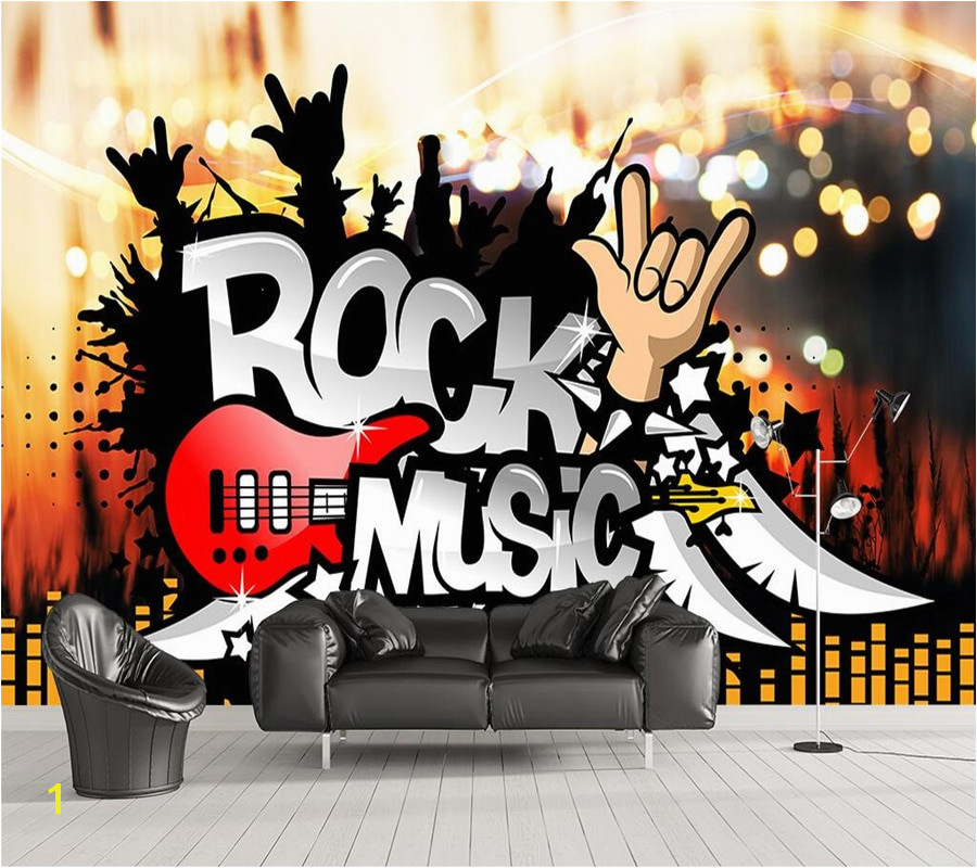 Beibehang Custom wallpaper photos rock music bar KTV tooling background wall living room bedroom background murals 3d wallpaper in Wallpapers from Home