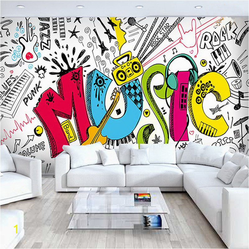 Custom 3D Abstract Musical Children s Room Graffiti Mural Cafe Restaurant Bar Bedroom Streets Rock Non