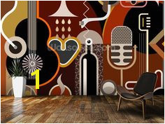 Music Abstract wall mural room setting Jazz Music Backgrounds Room Set Music Notes