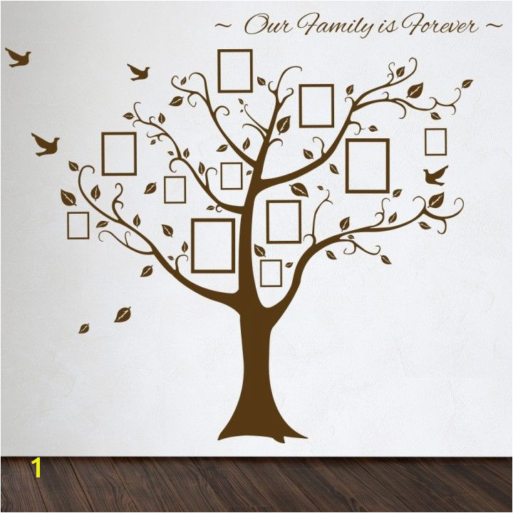 Roommates Family Tree Wall Decal with Vinyl Wall Decals Style that have Rectangle Shaped Picture Frames Accessories for Wall Decorating Inspirations