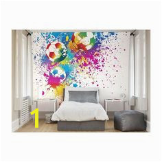 Football Splash Wall Mural