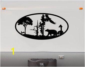 Rv Murals Bear forest Mountains Rv Camper Vinyl Decal Sticker Graphic Custom