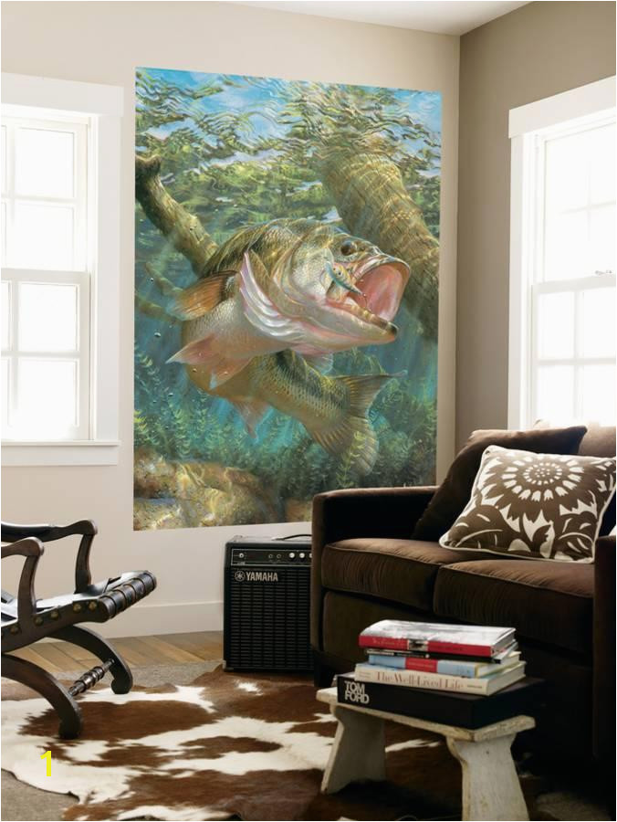 Mouth Bass Indoor Outdoor Vinyl Wall Mural Wall Mural at AllPosters