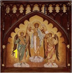 Sacred Art · Custom Byzantine style Angel Gabriel mural for the Basilica of St Patrick s Old Cathedral