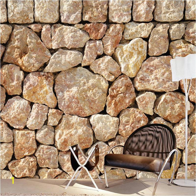 Sandstone Wall Murals Custom Mural Wallpaper 3d Stereo Embossed Imitation Stone Wallpaper