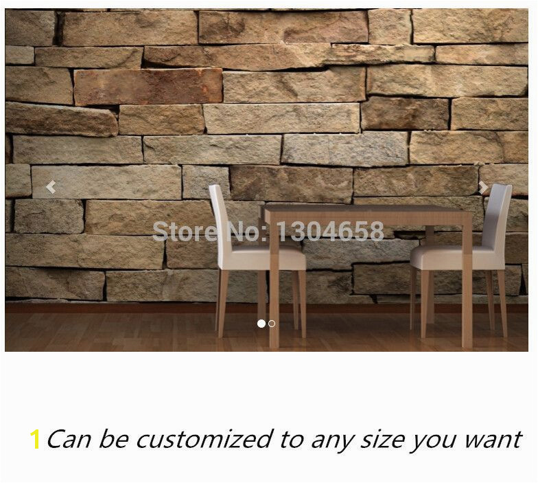 Free shipping custom mural Sandstone Brick Wallpaper Mural large bedroom living room TV backdrop wallpaper