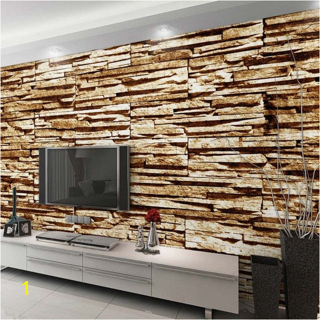 Home Decor Wall Papers 3D Stone Brick Wallpaper Custom Wall Mural Living Room Bedroom Self Adhesive Vinyl Silk Wallpaper