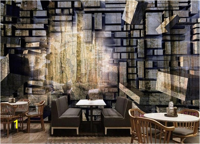 Retro Nostalgia Stone Wallpaper Brick Wall Murals Living Room HD Background Wall 3D Wallpaper Murals
