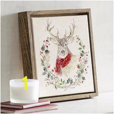 Deer in Wreath Art