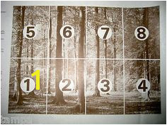 Vintage 1960 70 Swedish Scandecor Wall Mural Autumn Forest 12 7 x 9 MINT