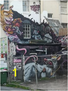 Street art graffiti Brighton UK
