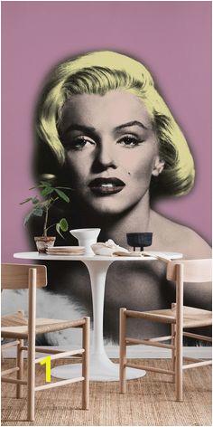 Pink Marilyn Monroe Wall mural