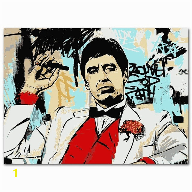 Scarface Classic Movie Silk Poster Al Pacino Wall Art Print Painting 13x18 24x32 inch Decoration Living Room Decor