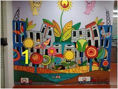 """La entrada a mi oficina """"Veolia Argentina"""" Mural Painting Mural Art Wall"""