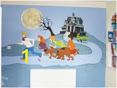 Scooby Doo Wall Mural Hand Painted Walls Mural Wall Art Modern Wall Art