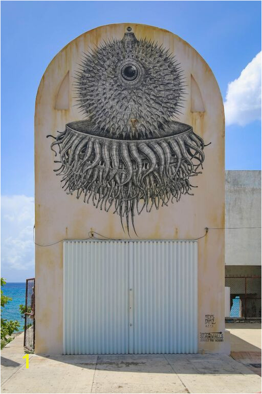 Alexis Diaz Sea Walls Murals for Oceans This guy does some really intricate street art designs Very technically proficient