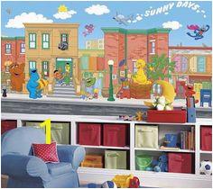 Sesame Street XL Wall Mural 6 x 10 5 Wall Decals Nursery Decor