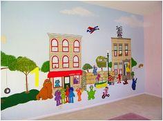 Sesame Street Mural Street Mural Murals Painting Wall Paintings Paint Painted