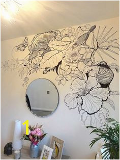 B W Tropical Wall Art