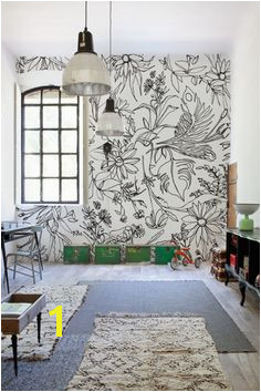 48 Eye Catching Wall Murals to Buy or DIY via Brit Co Hand Drawn Flowers Grab some Sharpies release your inner Monet and have fun drawing some summer
