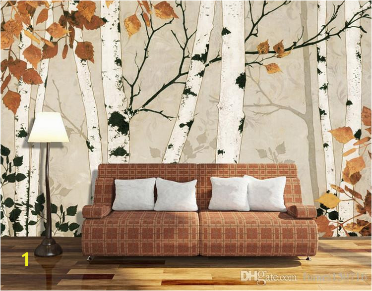 White birch wallpaper 3D wallpapers kids stickers stereo living room bedroom TV background wallpaper mural