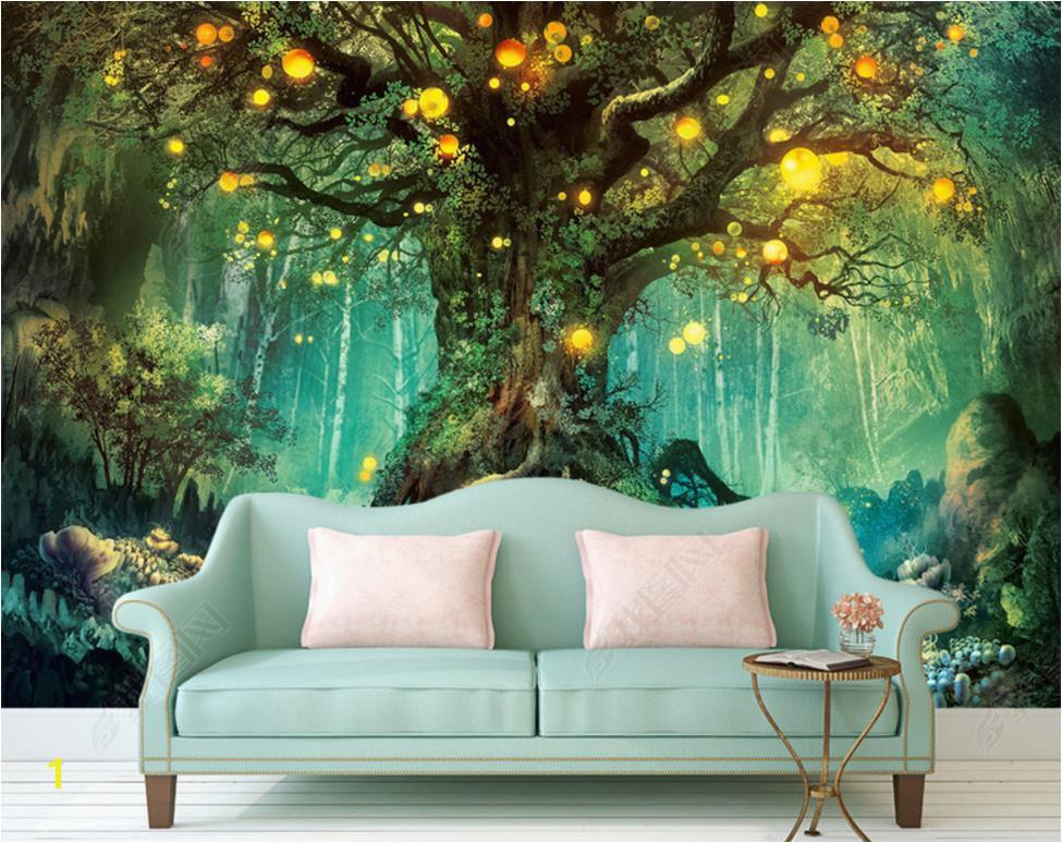 Small Size Wall Murals Beautiful Dream 3d Wallpapers forest 3d Wallpaper Murals Home