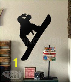 Snowboard Wall Decal Snowboard Wall Decor for by LivingWall Sports Wall Decals Vinyl Wall Stickers