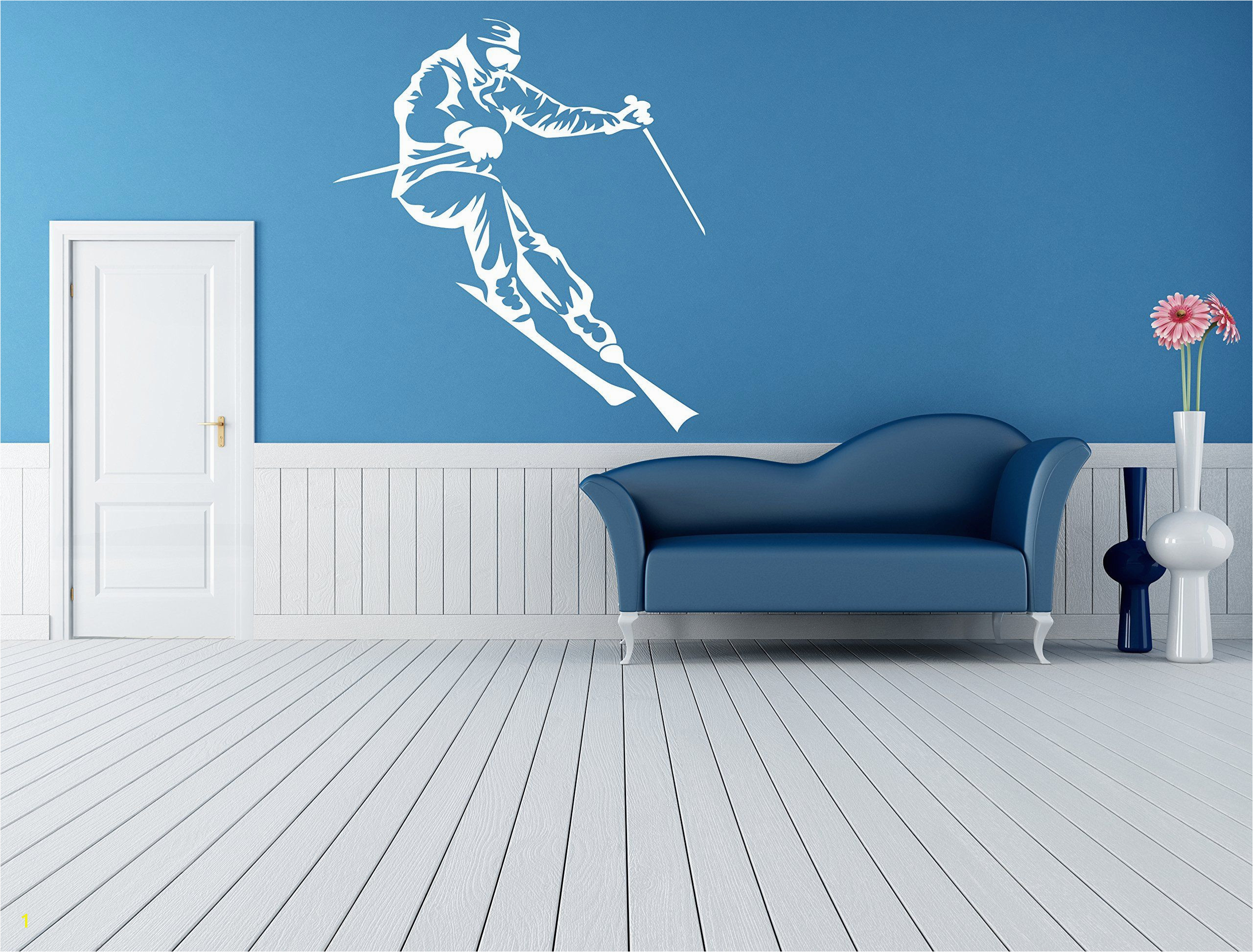 Snowboard Wall Mural Wall Room Decor Art Vinyl Sticker Mural Decal Ski Snowboard Slop Big
