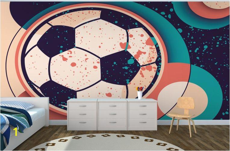 Paint Effect Soccer Ball Wall Mural Murawall
