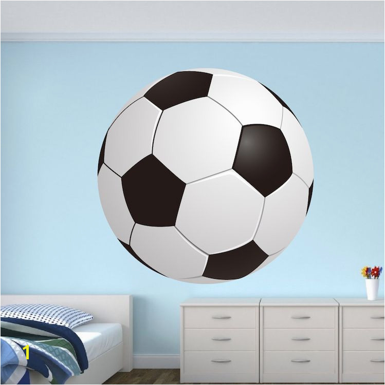 Soccer Bedroom Wall Graphic Soccer Ball Wallpaper Boys Room Soccer Sticker Personalized Soccer Monogram Primedecals