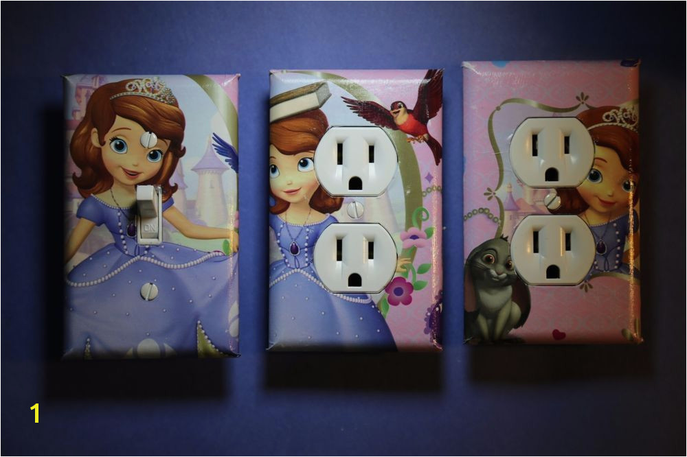 Sofia the First 3 pc Set Light Switch Cover girls princess room child decor