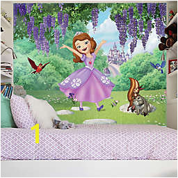 Sofia the First Friends Garden XL Chair Rail Prepasted 10 5 Foot x 6 Foot