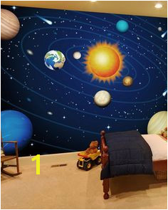 Inspire your child with a colorful solar system wallpaper mural It will infuse their special space with color and creativity Shop this and more like this