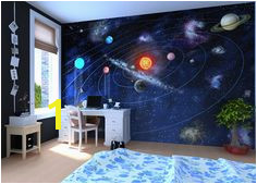 Solar System Wall mural Wallpaper wall Home decor Fototapet Valokuvatapetit