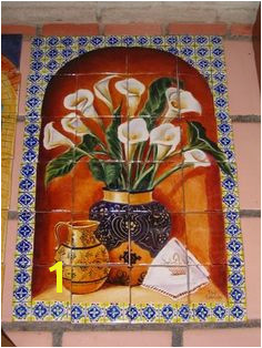 Mexican Tile and Stone pany tile mural design Flowers Mexican Hacienda Hacienda Style