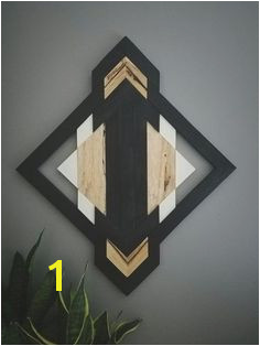 e of A Kind Wood Wall Art Reclaimed Wood Geometric Aztec Southwestern Modern Boho Zen Home Decor Mountain Decor