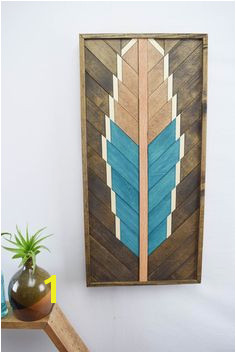 TURQUOISE Wood Wall Art Hanging Wooden Wall Art Bohemian Wood Art Wood Art Southwestern Art Modern Wood Art Geometric Wood Art