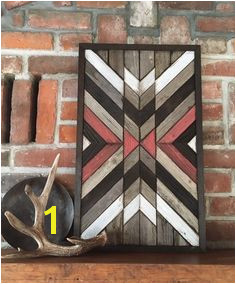 Reclaimed wood wall art Southwestern wood wall art Navajo Aztec inspired