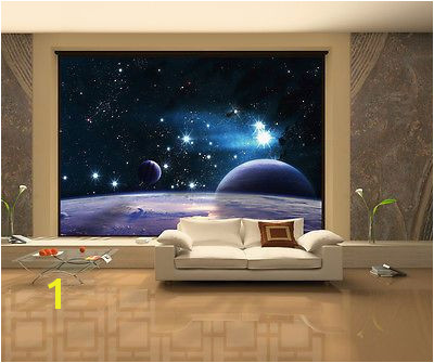 "100"" x 145"" Space 3D sky clouds stars Wall Murals Wallpaper Home Stickers WM9009"