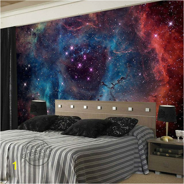 Gorgeous Galaxy Wallpaper Nebula wallpaper Custom 3D Wall Murals Children Bedroom Shop Art Wedding Room decor Starry Night