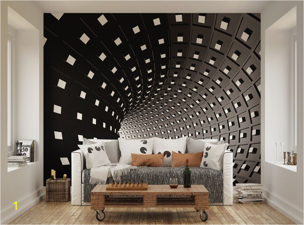 Space Wall Mural Uk Ohpopsi Abstract Modern Infinity Tunnel Wall Mural Amazon