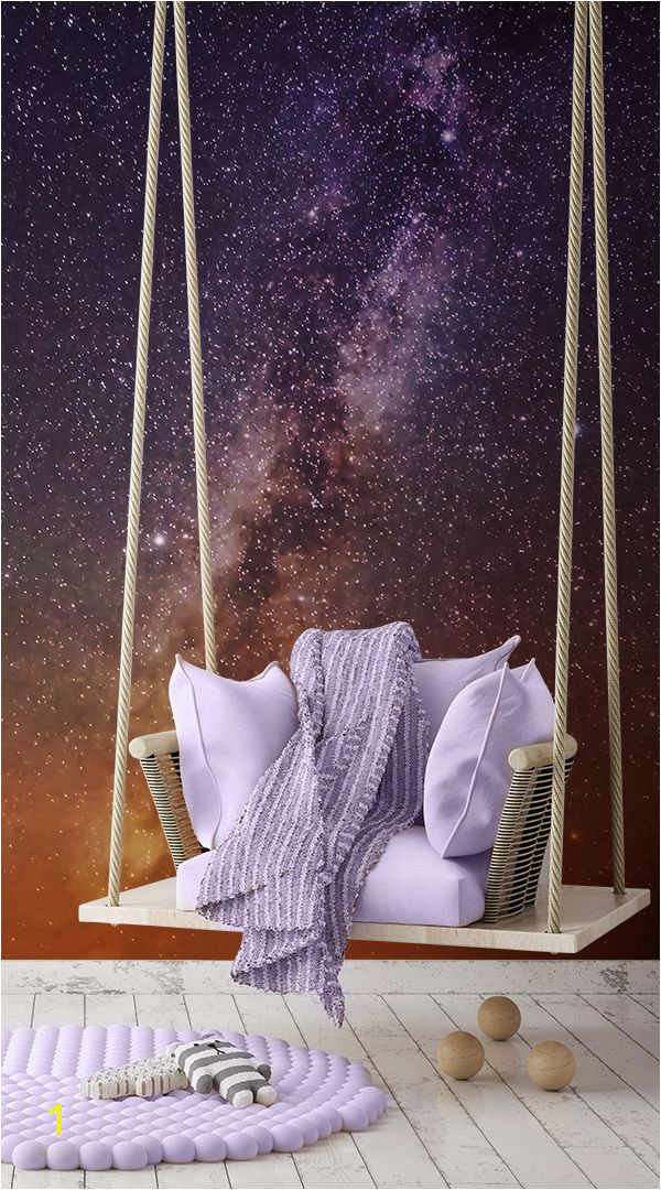 Space Wall Mural Uk Purple and orange Galaxy Wall Mural