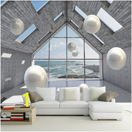 Custom Wallpaper 3D Abstract Space Stereoscopic Circle Ball Background Mural Wall Painting Living Room Sofa TV Backdrop