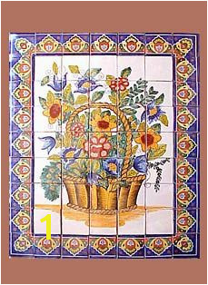Talevera tile mural Spanish Haciendas Mexican Tiles Tile Murals Kitchen Ideas Mosaic