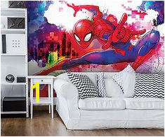 Poster Tapeten Fototapete Wandbild Tapeten Spiderman Marvel Kinder P4 Marvel Kinder Spiderman Wall