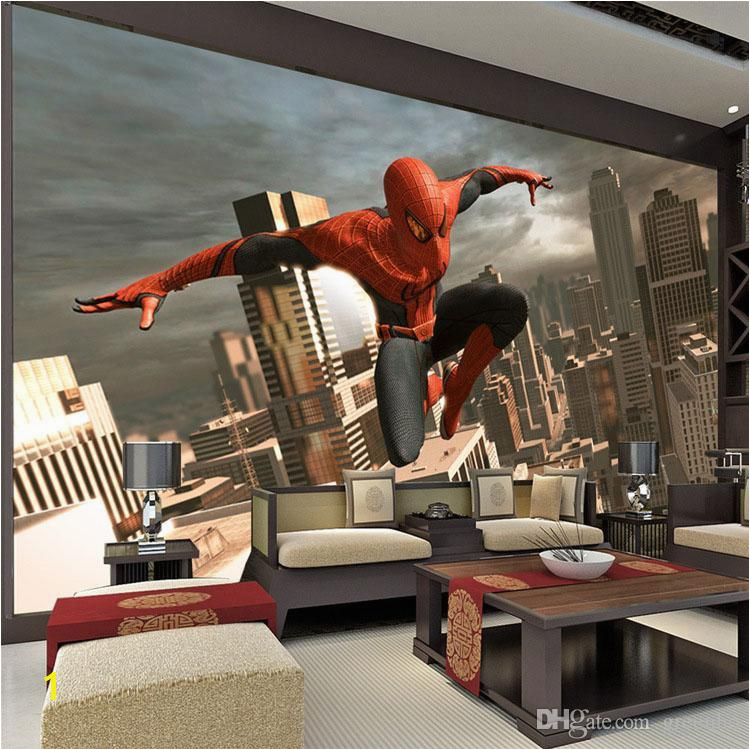 SpiderMan Wall Mural Superhero Wallpaper Custom 3D Wallpaper Boy s Room decor Wall art Kid Bedroom Living room Sofa background wall
