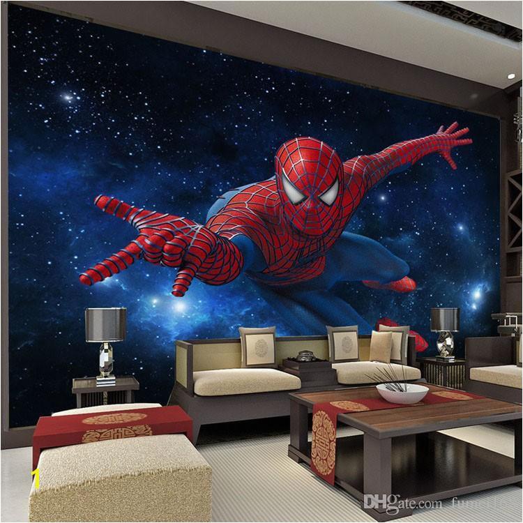 Spiderman Wallpaper Murals Großhandel 3d Stereo Continental Tv Hintergrundbild Wohnzimmer