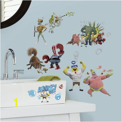 10x18 The Spongebob Movie Peel and Stick Wall Decals niftywarehouse